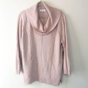 Calvin Klein cowl neck knit sweater
